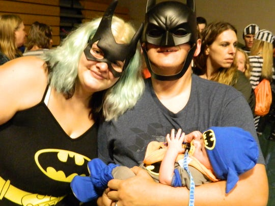 Many families wore themed costumes.