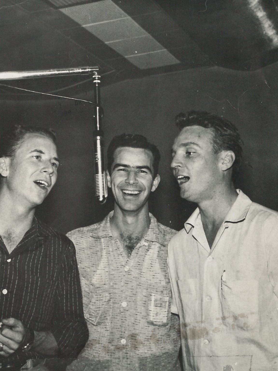 The Picks in 1957: From left, John Pickering, Bill Pickering and Bob Lapham.