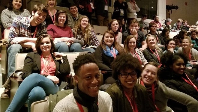 University of Wisconsin-Stevens Point theater and dance students attend the 2018 Kennedy Center/American College Theatre Festival in Indianapolis.