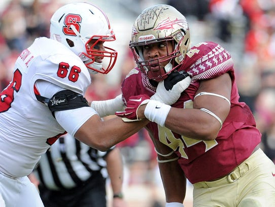 DeMarcus Walker, Florida State defensive end (right)