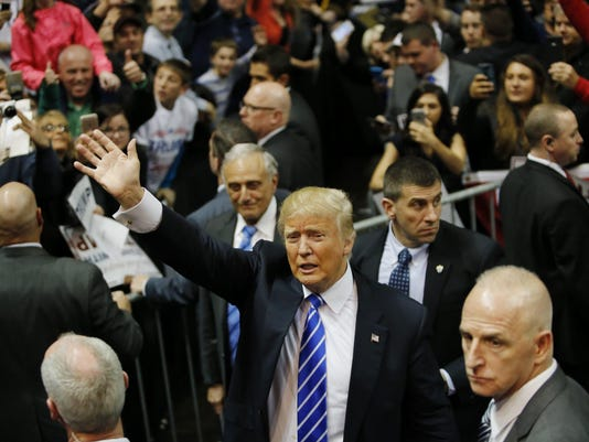 Donald Trump Holds Campaign Rally In Albany, NY