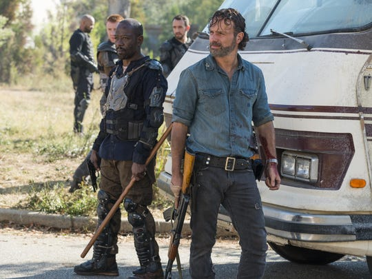 "Watch the season 9 premiere of ""The Walking Dead"" on the big screen, 6 p.m. Sunday, Oct. 7."