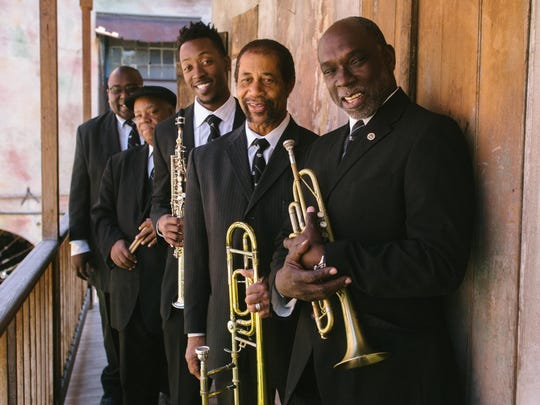 The Preservation Hall Legacy Quintet — from left, Chris