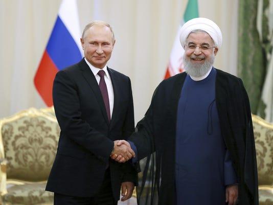 Hassan Rouhani,Vladimir Putin