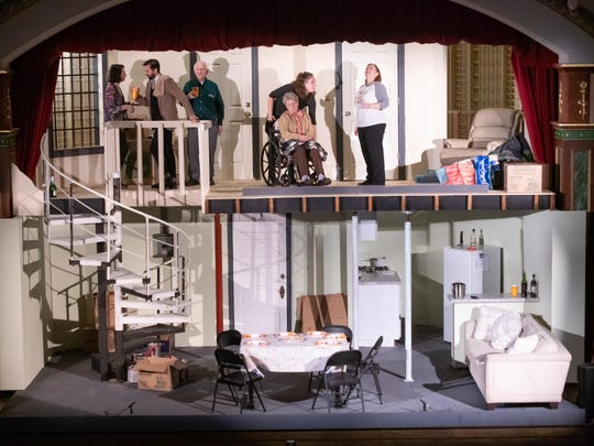 """The second play of this season, """"The Humans,"""" had a two-story set on the stage."""
