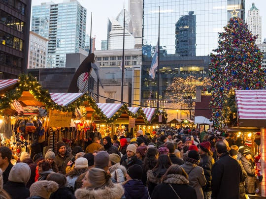 This popular outdoor festival Christkindlmarket is