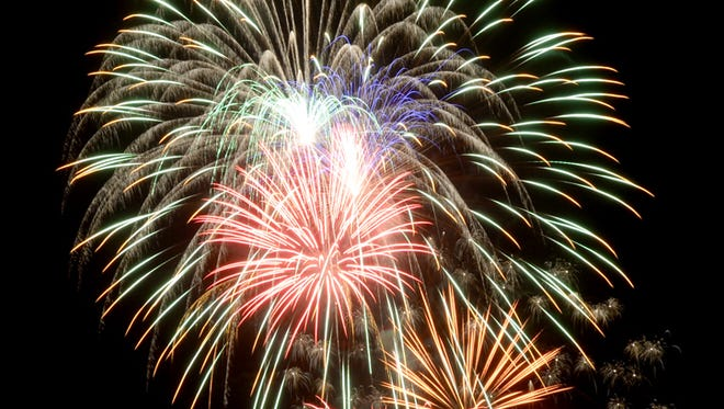Fourth of July fireworks light up the sky over Glen Miller Park in Richmond.