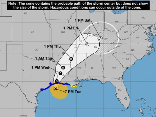 Harvey path as of 8.29.17