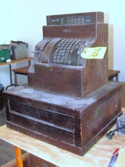 This antique cash register is among the historical relics at Rubin's Newsstand in Elmira.