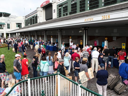 Hundreds of people hoping to have a valuable antique or artwork visited PBS' Antiques Roadshow event in the paddock of Churchill Downs Tuesday morning. May 22, 2018.