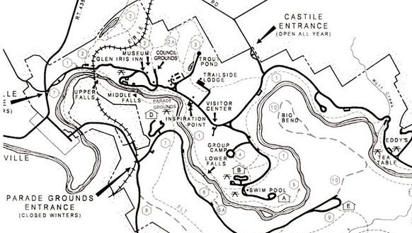 Trail 2 is in the upper left of this map, which focuses