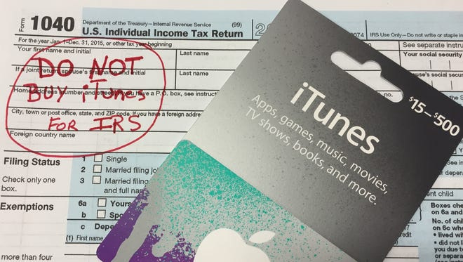 Scam artists pretending to be from the IRS are demanding payment on iTunes cards, so they can easily steal your money.