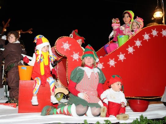 A float at the Petal Christmas parade.