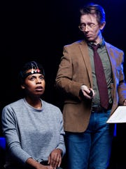 (l-r) Tamiko Robinson Steele and David Ian Lee in the SMART PEOPLE at The Rep.