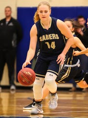 Senior Alexis Drake is part of a Susquehanna Valley defense that has limited opposing teams to an average of 34.5 points.