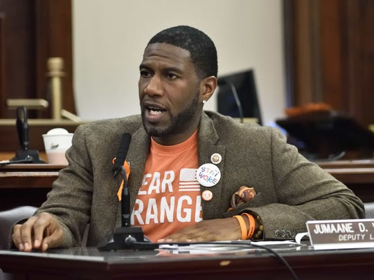 Jumaane Williams discusses the steps New York has taken to prevent gun violence during a New York CIty Council Hearing.last month.