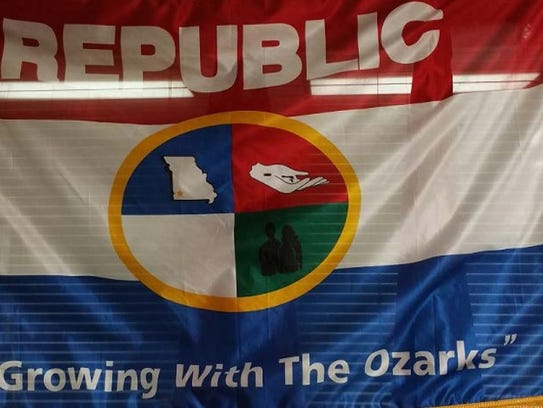 This version of Republic's city flag was in use up