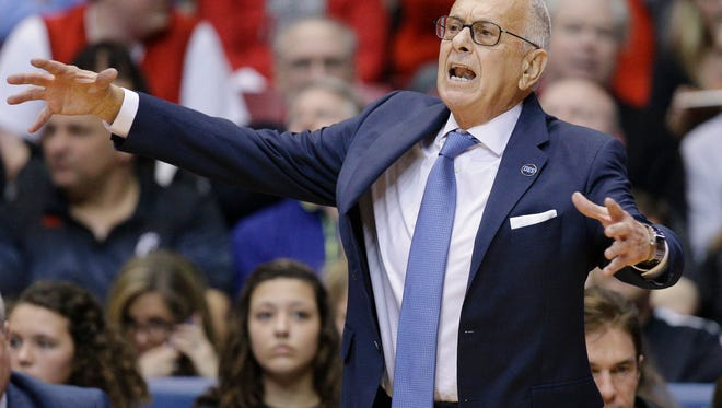 Larry Brown says he is resigning as SMU's basketball coach, ending a four-year run during which the Mustangs made the NCAA Tournament for the first time since 1993 and then were banned from postseason play last season.