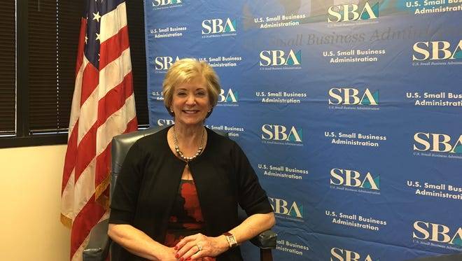 Linda McMahon, the head of the Small Business Administration, was in Phoenix on Thursday.