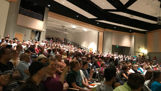More than 500 people gathered for an East Brunswick Zoning Board meeting to hear an application for a proposed project on Summerhill and Old Stage Roads.