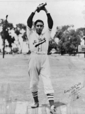 """Eulogio """"Lefty"""" Soto in his St. Mary's uniform, 1941."""