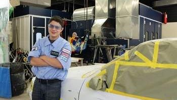 Josh Esquivel, SCVTHS Auto Body student, is a 2014 CDA Scholarship recipient.