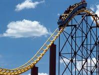 Rollercoaster going through loop