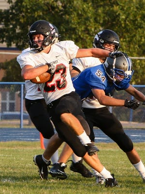 Nolan Houghteling and his Pinckney football teammates will host a Dexter team which has lost 36 straight games.