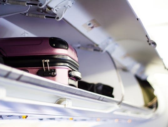Briefcase in the plane