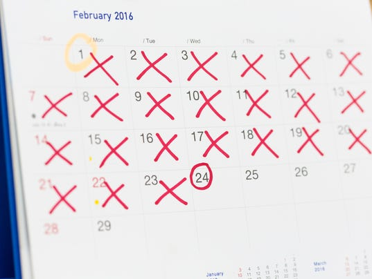 Reminder calendar, the concept to get pregnant.