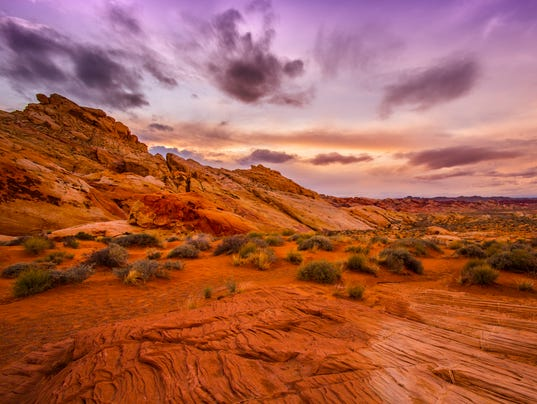 Sunset in Red Rock Canyon