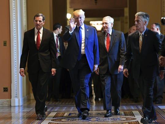 Donald Trump, Mitch McConnell, John Barrasso
