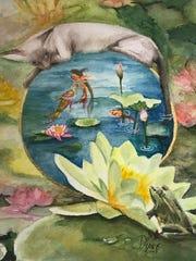 Diane Rose painted Queenie before she even met her.