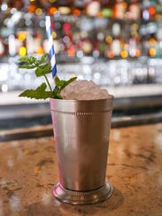 A mint julep at Bubba in Des Moines is one of the signature