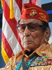 Samuel Holiday of Arizona, is a Navajo Indian who served in the U.S. Marines in World War II as a Navajo Code Talker.