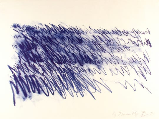 """Twombly"" is one of 139 fine art pieces currently on"