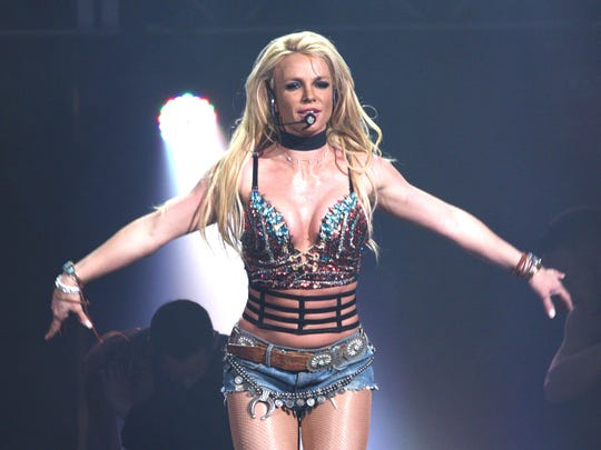 SAN JOSE, CA - DECEMBER 03:  Singer Britney Spears performs during the Now! 99.7 Triple Ho Show 7.0 at SAP Center on December 3, 2016 in San Jose, California.  (Photo by C Flanigan/FilmMagic) ORG XMIT: 685139701 ORIG FILE ID: 627664572
