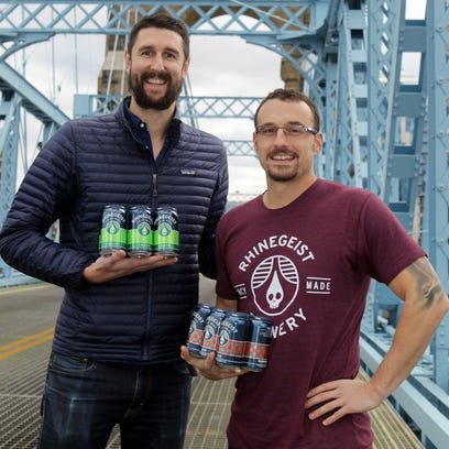 Rhinegeist Brewery co-founders Bryant Goulding (left)