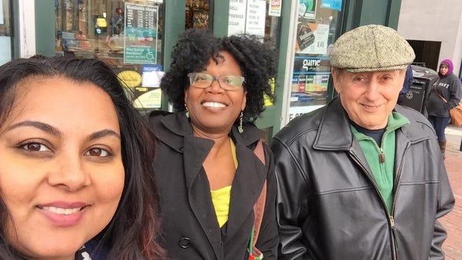 Carlo Baldino, right, his wife, Joyce McNickles, and friend Marianna Islam, left, in 2016