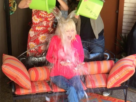 Dolly Parton Ice Bucket challenge square