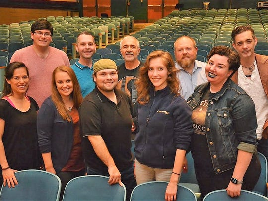 Some members of the cast of the Greece Theatre Company's