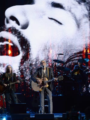 Yusuf, previously known as Cat Stevens, performs onstage at the 29th Annual Rock and Roll Hall of Fame Induction Ceremony at Barclays Center of Brooklyn on April 10, 2014, in New York City.  He will soon tour the U.S. for the first time since 1976.
