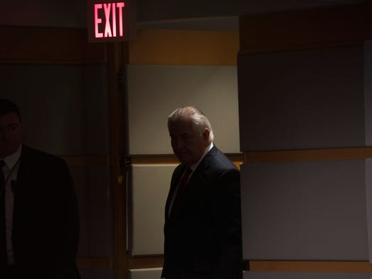 Rex Tillerson, outgoing US Secretary of State arrives