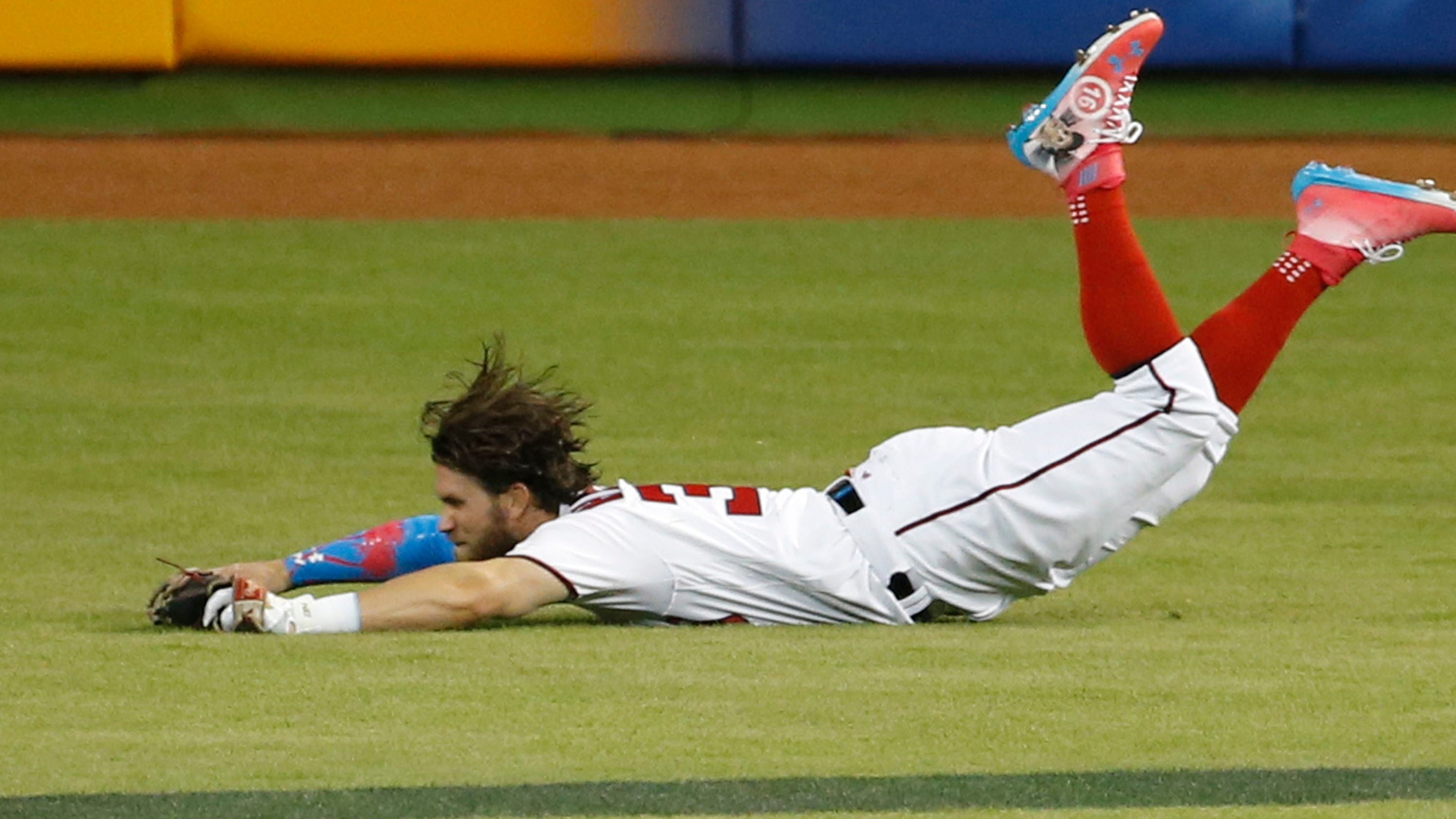 Bryce Harper Unleashes Epic Hair Flip In All Star Game