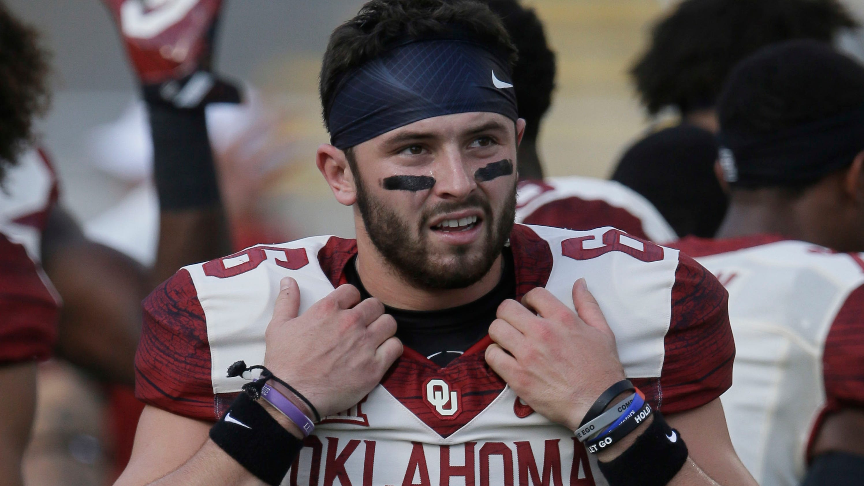 Baker Mayfield tells Baylor players he's going to spank them