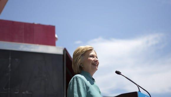 Presumptive Democratic presidential nominee Hillary