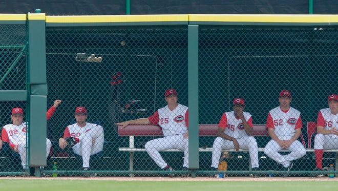 The 2005 Cincinnati Reds bullpen.