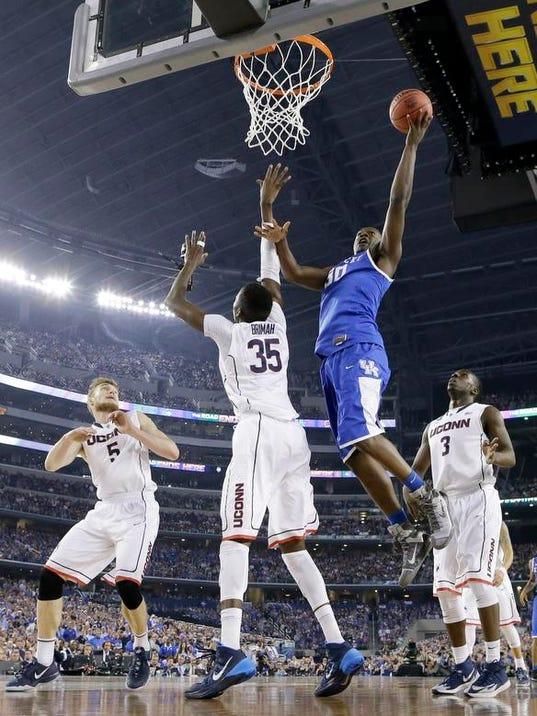 0408 NCAA Kentucky UConn Final Four Basketball