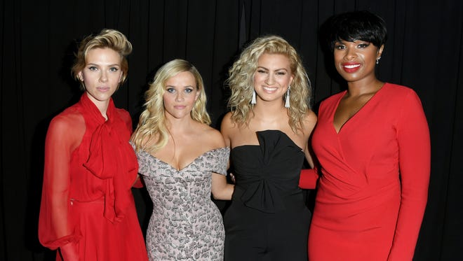 Scarlett Johansson, Reese Witherspoon, Tori Kelly and Jennifer Hudson join forces for 'Sing.'