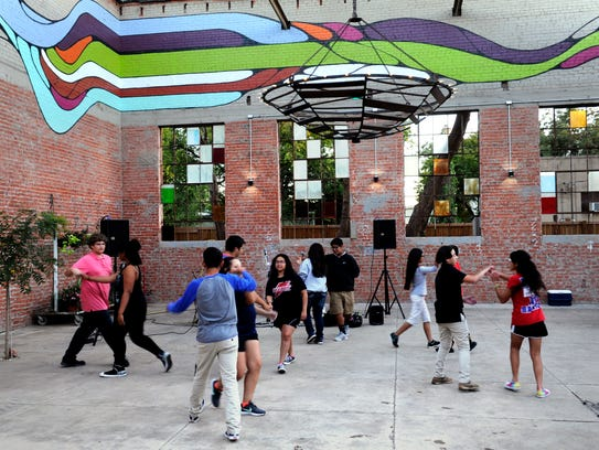 Teens dance at the SODA Courtyard Thursday Nov. 2,